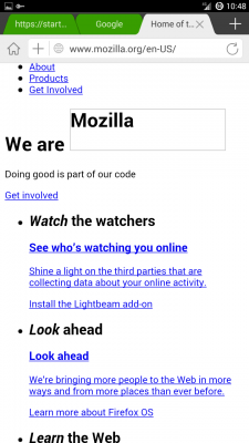 mozilla.org kinda half works, but it's getting at least SOME data..